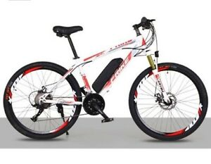 Electric Bikes, E-Bikes, Ebikes for Adults, 250W, 21 Speed (WHITE)