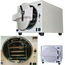 FDA 18L Dental Lab Equipment Steam Pressure Sterilizer Autoclave 900W Trays Kit