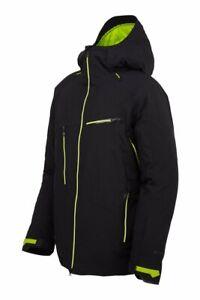 Spyder HOKKAIDO GTX Jacket Black and Lime Men's Large $800 Retail Gore Tex Ski