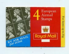 UK ROYAL MAIL 4 European Airmail 30p Stamps Booklet 1999 UNEXPLODED - USA SELLER