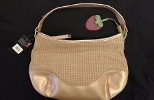 NWT Stone Mountain Caracas Purse Handbag Leather and Woven with Strawberry Clip