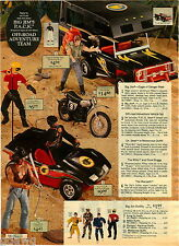 1976 PAPER AD Action Figure Big Jim Dune Buggy Warpath Indian Tracker Motorcycle