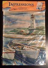 Lighthouse Harbor Boat Ocean Beach Seagull Sand Mini Window Garden Yard Flag New