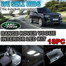 RANGE ROVER VOGUE L322  18PC LED INTERIOR KIT LIGHTS LED  XENON WHITE  uk seller