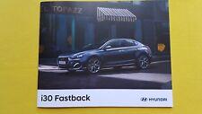HYUNDAI i30 Fastback se NAV Premium Auto vendite BROCHURE GENNAIO 2018 Nuovo di zecca i 30