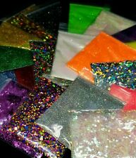 10 Assorted Glitter Colors Shaped, Chunky And Fine, Cosmetic Grade For Epoxy