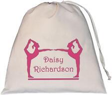 Personalised - Gymnasts Design - Large Natural Cotton Drawstring Bag - PE Kit