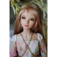 1/4 BJD SD Dolls Pretty Girl Female 17'' Resin Bare Doll + Eyes + Face Makeup