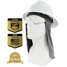 Flame Resistant Fr Hard Hat Liner, Sun Shade, Lt. Gray, One Size Fits All Hats -