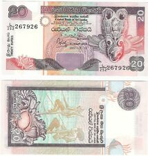 Sri Lanka 20 Rupees 2001 P-116a UNC Uncirculated Banknote