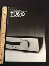 Harman Kardon HK TU610 Stereo Tuner Original Owners Manual 8 Pages A16