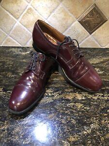 Church's Custom Maroon Calf Leather Fighting Seal Oxford Shoes Cap Toe Men 10.5