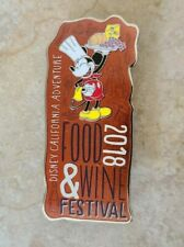 New listing Disney Trading Pin Dca 2018 Food Wine Festival Mickey Mouse Dressed as Chef