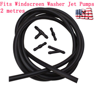 2M Washer Nozzle Spray Pump Hose Car Front Rear Windshield Wiper Jet Tube Pipe