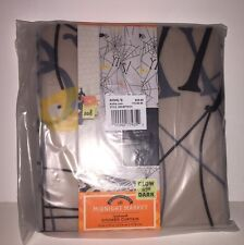 MIDNIGHT MARKET Spiderweb Shower Curtain HALLOWEEN Glow 70in x 70in Vinyl NWT