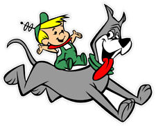 "Jetsons Elroy and the dog sticker decal 5"" x 4"""