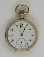 c1925 14k Yellow Gold Dunand Repeater Open Face Pocket Watch