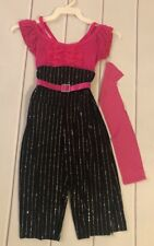 Curtain Call Style # E4149 Pink/Black Size Child Small NWT