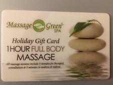 1hr Massage Green Spa ($79.95 value) + 40 min Sauna Session
