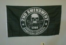 2nd second Amendment America's Original Homeland Security 1789 Skull Flag 3'x5'