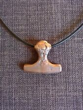 hand cast bronze tribal thor Viking norse mjolnir axe pendant necklace