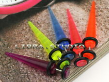 5 Colors 316L Steel Look Fake Cheater Ear Plugs Gauges Fake Tapers Stretcher 16g