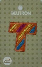 Beutron Iron on Motif Applique Patch Alphabet Letter T Bm6237 9312919041786