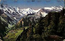 Mürren Schweiz Berner Oberland 1926 Mittaghorn Grosshorn Tschingelhorn gelaufen