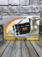 NEW GPX Weatherband Radio with Flashlight  Water Resistant Weather Alert