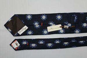 NWT $115 PETER MILLAR Made in Italy Silk Navy Tie
