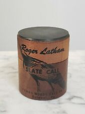 Vintage Roger Latham Slate Turkey Call Penns Woods Delmont PA