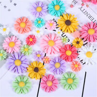 Multipurpose 8-27mm Resin Daisy Flowers Cabochons Random 20 pcs Craft Decors