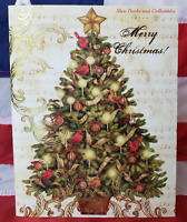 NEW Tim Coffey Christmas Tree Boxed Christmas 18 Cards & 19 Envelopes Lang