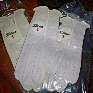 3 classic Authentic Titleist Small Gloves Leather Soft Mens Left Hand Cadet GOLF
