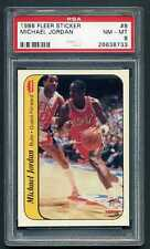 1986 86-87 Fleer Stickers Complete PSA 8 Set Michael Jordan Magic Bird Dr J NQ!!