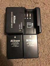 Genuine Nikon MH 23 Charger + 2EN-EL9 Li-ion Batteries For Nikon D3000 D5000 D40
