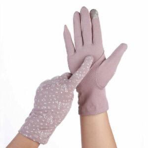 Anti-UV Sunscreen Gloves Summer Stretch Driving Anti-Slip Touch Screen Gloves