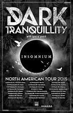 "DARK TRANQUILLITY / INSOMNIUM ""2015 NORTH AMERICAN TOUR"" CONCERT POSTER - Metal"