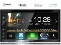 """Kenwood DDX6706S Carplay and Android Auto, DVD 6.8"""" Touch Screen, Bluetooth"""