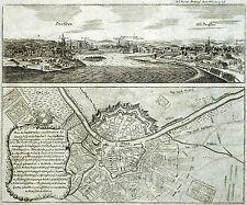 DRESDEN - Grundansicht & Grundriss - Frankfurter Meß-Relation - Kupferstich 176