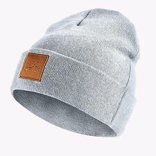 $119 NIKE Men UNISEX GRAY CUFFED WINTER WARM KNIT SKULL HAT CAP BEANIE ONE SIZE