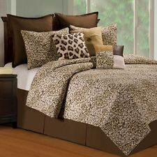 Sabi Sands Animal Print 3 Pc.Full/Queen Quilt Set Cotton Quilted Bedspread C & F