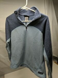 Women's Patagonia Synchilla Zip Fleece Pullover Large Size M blue tone