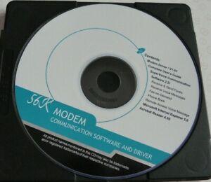 Vintage 56K modem Communicator Software Driver Computer software disc