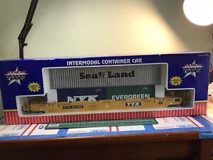 G SCALE USA Trains TTX Intermodal Container R17101 #427066 With 3 TRAILERS & Box