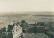 Afrique du Nord, Ruines Romaines vues d'en haut. Remparts d'un long aq
