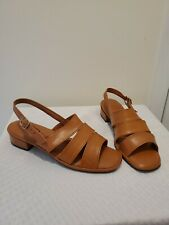 Vintage 1960's Gaytimers Open Toe Sandals Sz 9 Brown Rare
