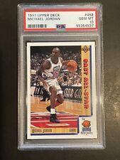 1991 - 92 Upper Deck UD Michael Jordan PSA 10 GEM MINT #452 East All-Star Bulls