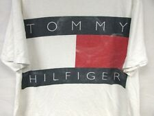 Vintage 90's Tommy Hilfiger T-Shirt Box Tee Big Flag Tommy XLarge USA Spellout