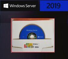 Genuine Microsoft Wndows Server Standard 2019 64bit (DVD & COA) Sealed Pack